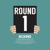 Handshow som boxas Ring Board stock illustrationer