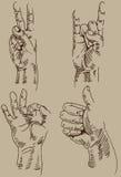 Handsign ilustração royalty free