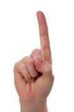 Handsign - Aufmerksamkeit! Getrennt lizenzfreies stockbild