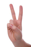 Handsign - victoire Photographie stock