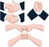 Handskakapacke Royaltyfria Foton