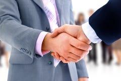 Handskakning över affär Royaltyfri Bild