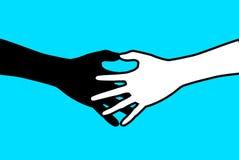 Handskakning 2 vektor illustrationer