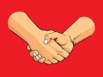 Handskakning Fotografering för Bildbyråer