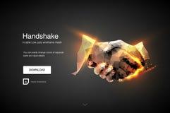 handskakning Affärsmän som gör handskakningen - affärsetikett-, sammanslagning- och förvärvbegrepp Abstrakt begrepp av aff?rshand royaltyfri illustrationer