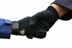 Handskakning av hästryttare Royaltyfri Bild