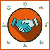Handskakning och personalresurser Arkivfoton