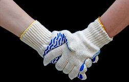 handskakningarbete Fotografering för Bildbyråer