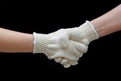 handskakningarbete Arkivfoton