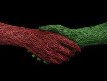 handskakningheltäckande Royaltyfri Fotografi
