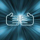 handskakningillustration Arkivfoton