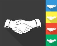 Handskakningsymbol - kulör uppsättning Fotografering för Bildbyråer