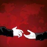 handskakningvärld Royaltyfri Bild