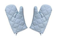 Handskar för bär varm mat Arkivfoton