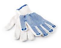 handskar isolerade vit working arkivbild