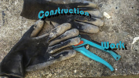 handskar isolerade vit working Royaltyfria Bilder