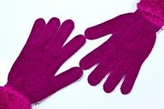 Handskar på en vitbakgrund Royaltyfri Fotografi