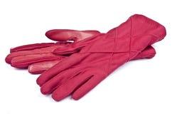 handskar parar red Arkivfoto