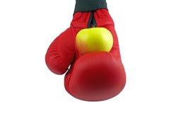 Handske äpple, mat som är mogen Arkivbild