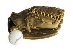 Handske och baseball Arkivfoton
