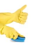 handskehänder sponge två Royaltyfri Bild