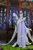 Handskepuppetryutställning, Yunlin County i Taiwan Royaltyfria Bilder