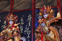 Handskepuppetryutställning, Yunlin County i Taiwan Royaltyfria Foton