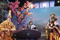 Handskepuppetryutställning, Yunlin County i Taiwan Arkivfoton