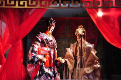 Handskepuppetryutställning, Yunlin County i Taiwan Royaltyfri Bild