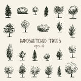 Handsketched trees Royalty Free Stock Photography