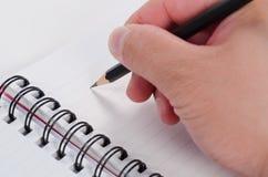 handskriftanteckningsbokblyertspenna Royaltyfria Foton