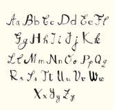 Handskriftstilsortsuppsättning arkivbilder