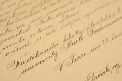 handskrifttappning Royaltyfria Bilder