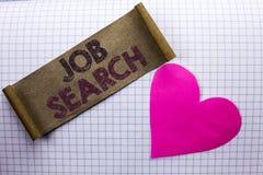 Handskrifttext Job Search Rekryt för rekrytering för anställning för tillfälle för vakans för karriär för begreppsbetydelsefynd s arkivfoto