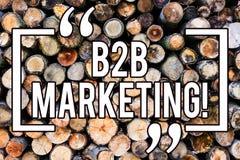 Handskrifttext som skriver B2B marknadsföringen Begreppsbetydelseaffär till bakgrund för kommers för kommersiella transaktioner f royaltyfri illustrationer