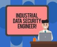 Handskrifttext som skriver den industriella teknikern för datasäkerhet Begrepp som betyder mellanrumet för teknik för teknologinä vektor illustrationer