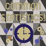 Handskrifttext som skriver gemensam statistik Den van vid begreppsbetydelsen beräknar värden släkta statistiska begrepp stock illustrationer