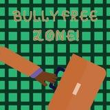 Handskrifttext som skriver jättebra fri zon Begreppsbetydelse som skapar liv för högskola för fri skola för missbruk som rusar af vektor illustrationer