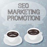 Handskrifttext som skriver Seo Marketing Promotion Begreppet som betyder att förbättra innehållet och öka exponering av en websit vektor illustrationer