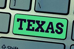 Handskrifttext som skriver Texas Begreppsbetydelse som baseras på menande vänner för Caddo ordtaysha, och dess som lokaliseras i  royaltyfri fotografi
