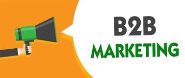 HandskrifttextB2B marknadsföring För partnerskapföretag för begrepp återförsäljer den menande blytaket för sammanslagning för dis stock illustrationer