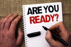 Handskrifttexthandstil är dig ordnar till fråga Begreppsbetydelsen är förberett motiverat varnat medvetent skriftligt för beredsk royaltyfria foton
