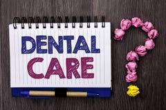 Handskrifttexttandvård Begrepp som betyder den muntliga tandmunnen som att bry sig skriftlig reglemente för säkerhetshygienskydd  arkivfoton