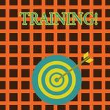 Handskrifttextutbildning Begrepp som betyder organiserad aktivitet för att framkalla expertisuppsättningen av uppvisning av färgp vektor illustrationer