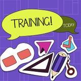 Handskrifttextutbildning Begrepp som betyder organiserad aktivitet för att framkalla expertisuppsättningen av uppvisning två av t stock illustrationer