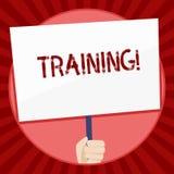 Handskrifttextutbildning Begrepp som betyder organiserad aktivitet för att framkalla expertisuppsättningen av uppvisning av vit f stock illustrationer