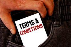 Handskrifttextuttryck och villkor Begrepp som tillbaka betyder laglig jeans po för brunt för bosättning för begränsningar för lag royaltyfri bild