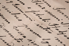 handskriven bokstav Royaltyfri Fotografi