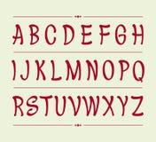 Handskriven borste för original- stilsort också vektor för coreldrawillustration Arkivfoton