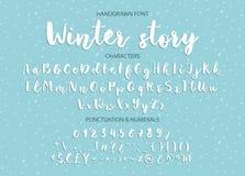 Handskriven borstestilsort Hand dragen modern kalligrafi för borstestil Arkivbilder